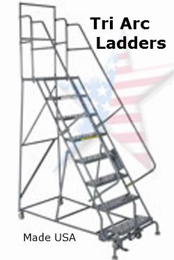rolling tri arc ladder