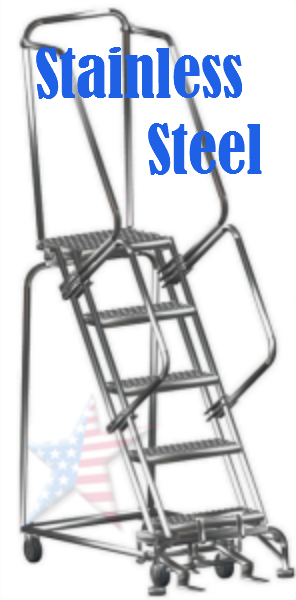 stainless rolling ladder