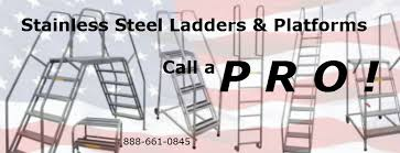 stainless steel rolling ladder