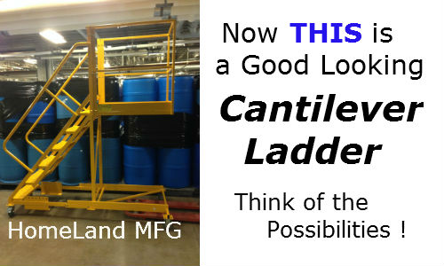 warehouse rolling ladder (2)