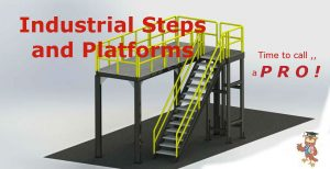 custom Industrial ladder platform