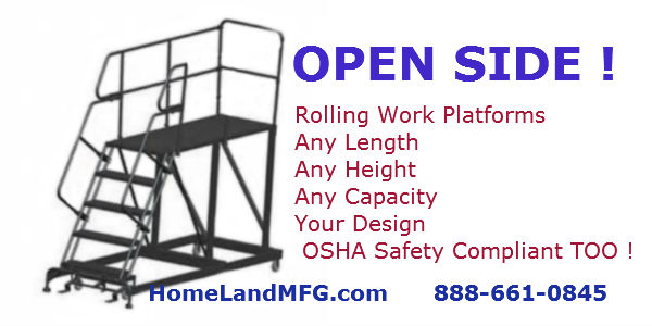work platform open side