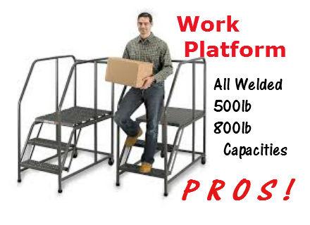 mobile work platforms 500lb capacity