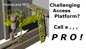 custom ladder side exit platform with machine access